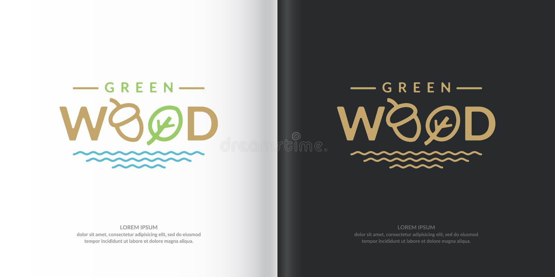 Vector logo green wood. royalty free illustration