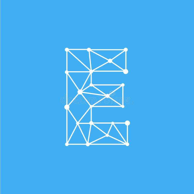 Diagram Logo Letter C Glitch Distortion Diagonal Vector Image