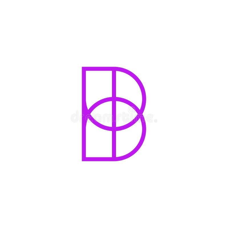 Vector Logo Letter Pink Line B stock de ilustración