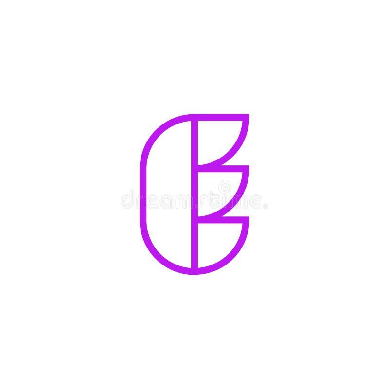 Vector Logo Letter Pink Line E ilustración del vector