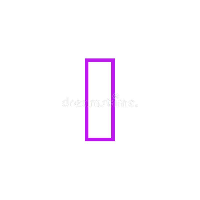 Vector Logo Letter Pink Line I libre illustration