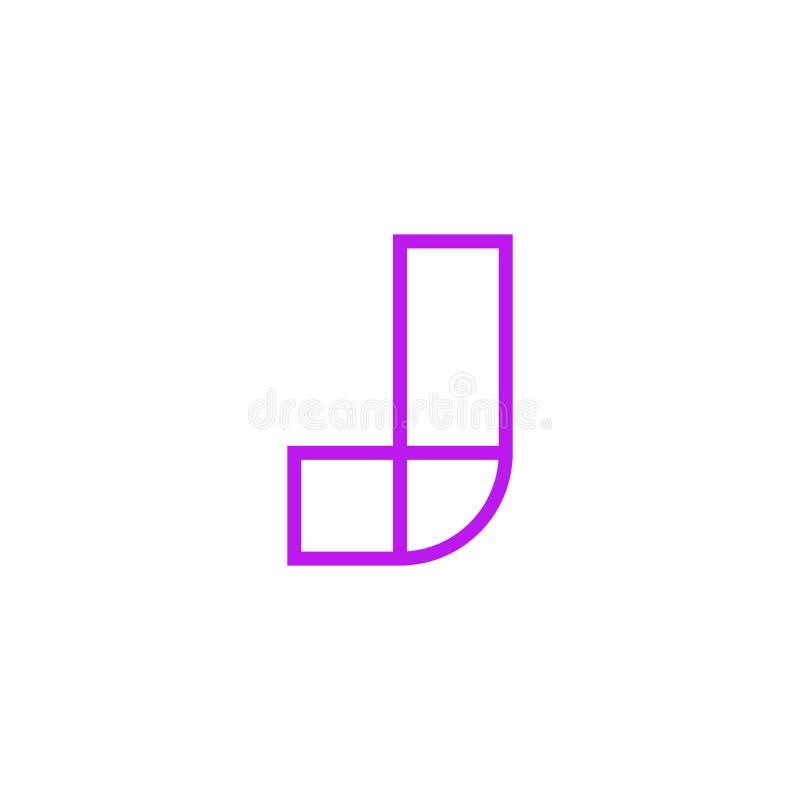 Vector Logo Letter Pink Line J libre illustration