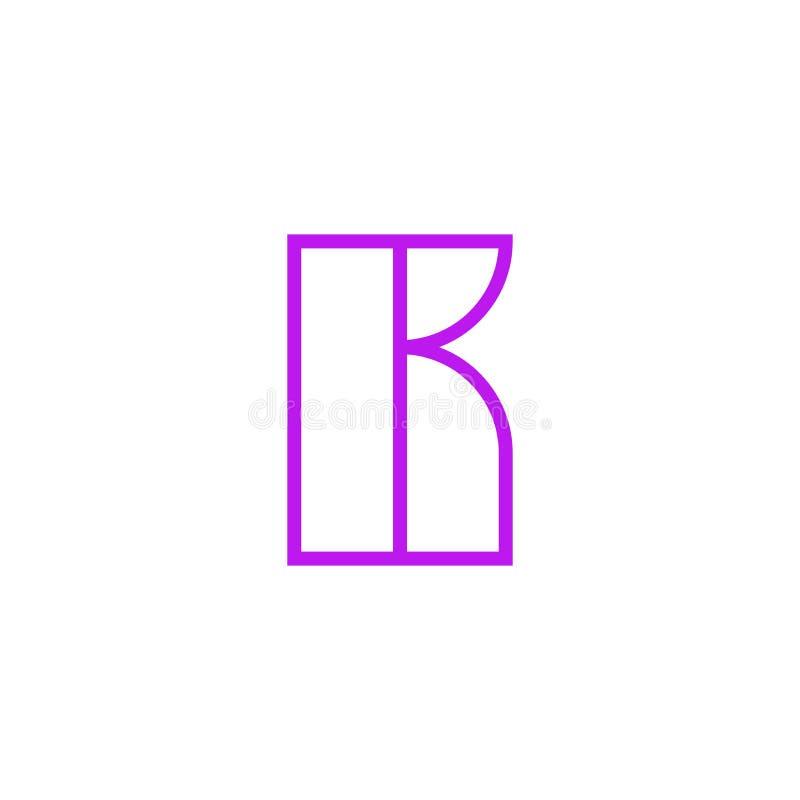 Vector Logo Letter Pink Line K ilustración del vector