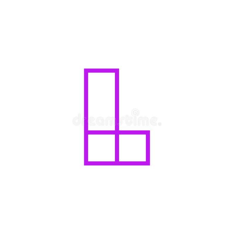Vector Logo Letter Pink Line L stock de ilustración