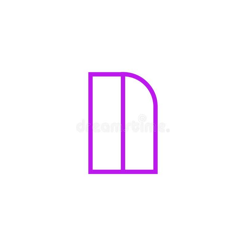 Vector Logo Letter Pink Line N stock de ilustración
