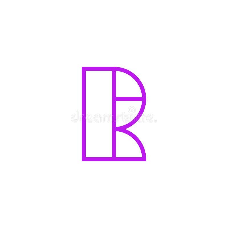 Vector Logo Letter Pink Line R stock de ilustración