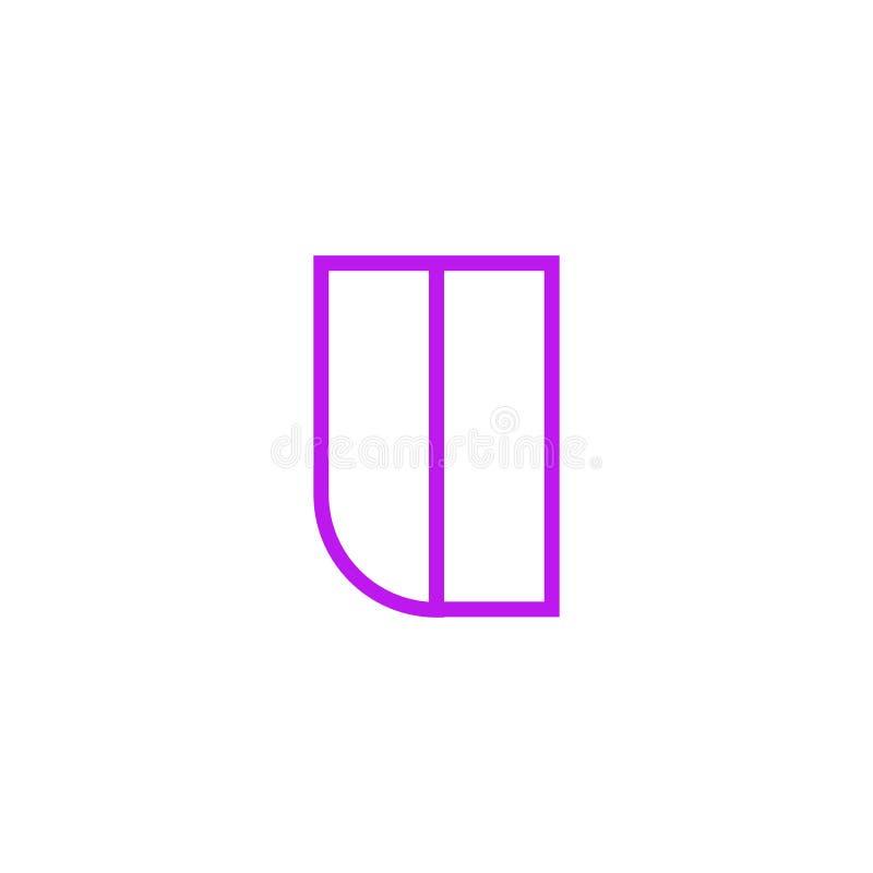 Vector Logo Letter Pink Line U ilustración del vector
