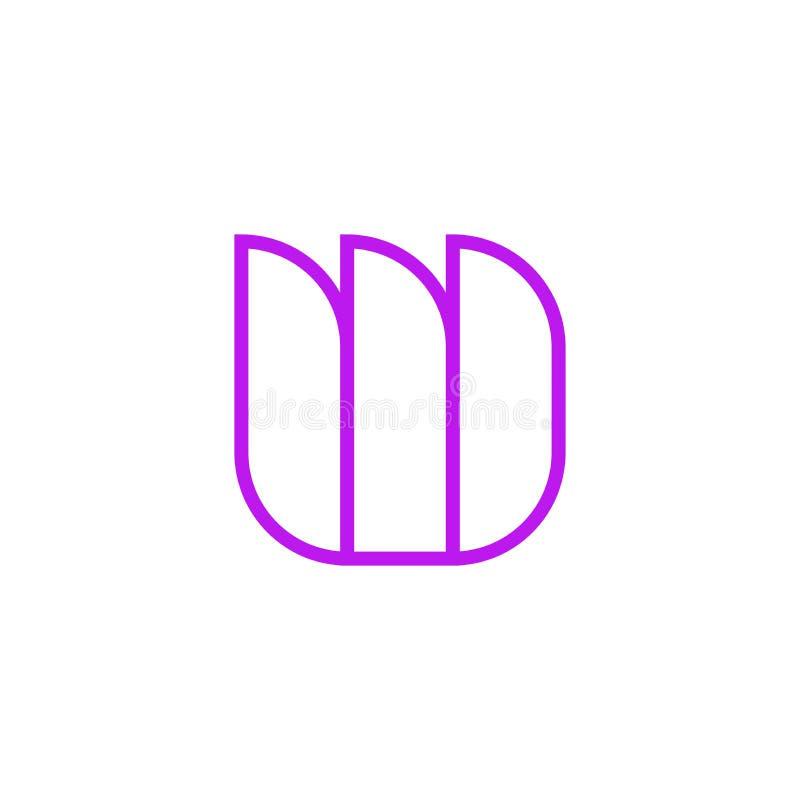 Vector Logo Letter Pink Line W libre illustration