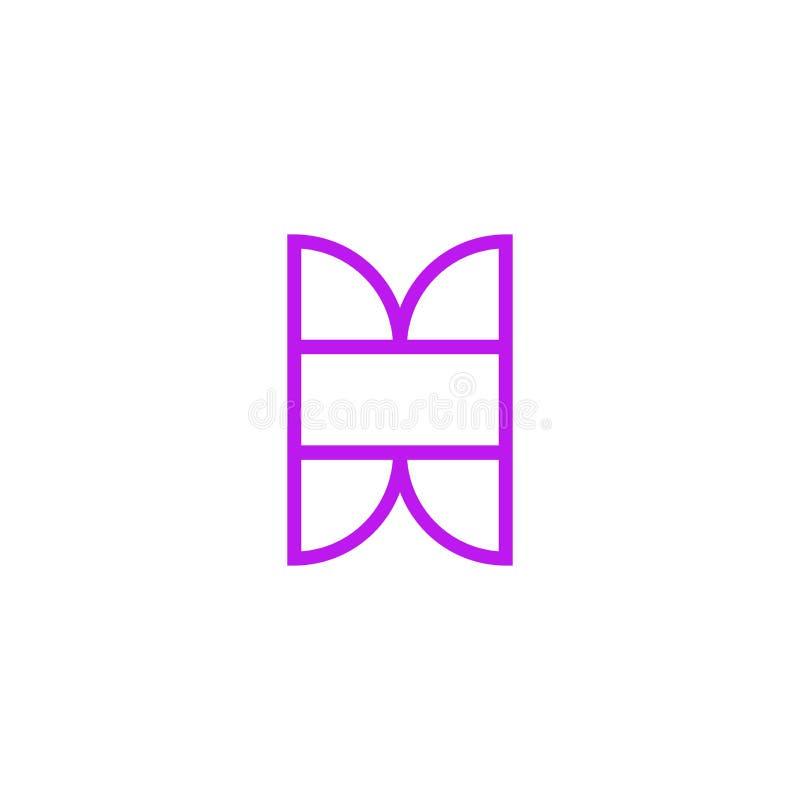 Vector Logo Letter Pink Line X ilustración del vector