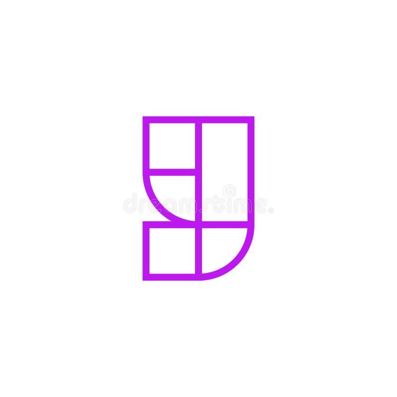Vector Logo Letter Pink Line Y libre illustration