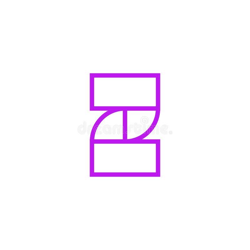 Vector Logo Letter Pink Line Z libre illustration