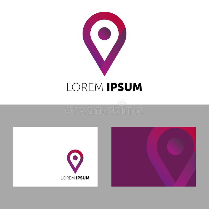VECTOR LOGO. LOREM IPSUM LOGOTYPE. ICON FOR YOUR COMPANY. BUSINESS VECTOR. COLOR ICON. CREATIVE COMPANY stock illustration