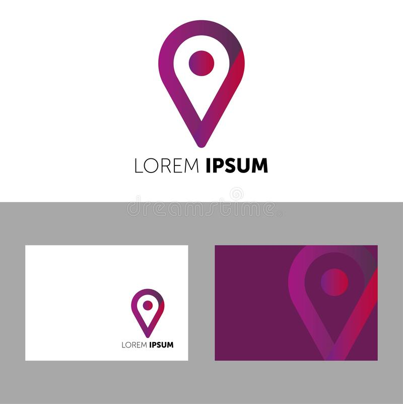 VECTOR LOGO. LOREM IPSUM LOGOTYPE. ICON FOR YOUR COMPANY. BUSINESS VECTOR. COLOR ICON. CREATIVE COMPANY royalty free illustration