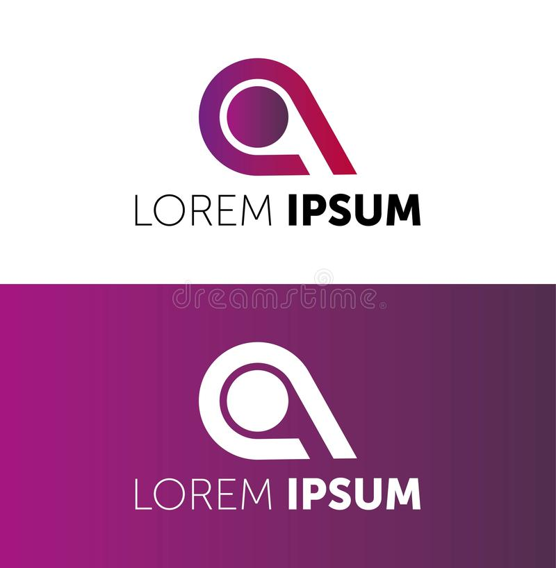 VECTOR LOGO. LOREM IPSUM LOGOTYPE. ICON FOR YOUR COMPANY. BUSINESS VECTOR. COLOR ICON. CREATIVE COMPANY vector illustration