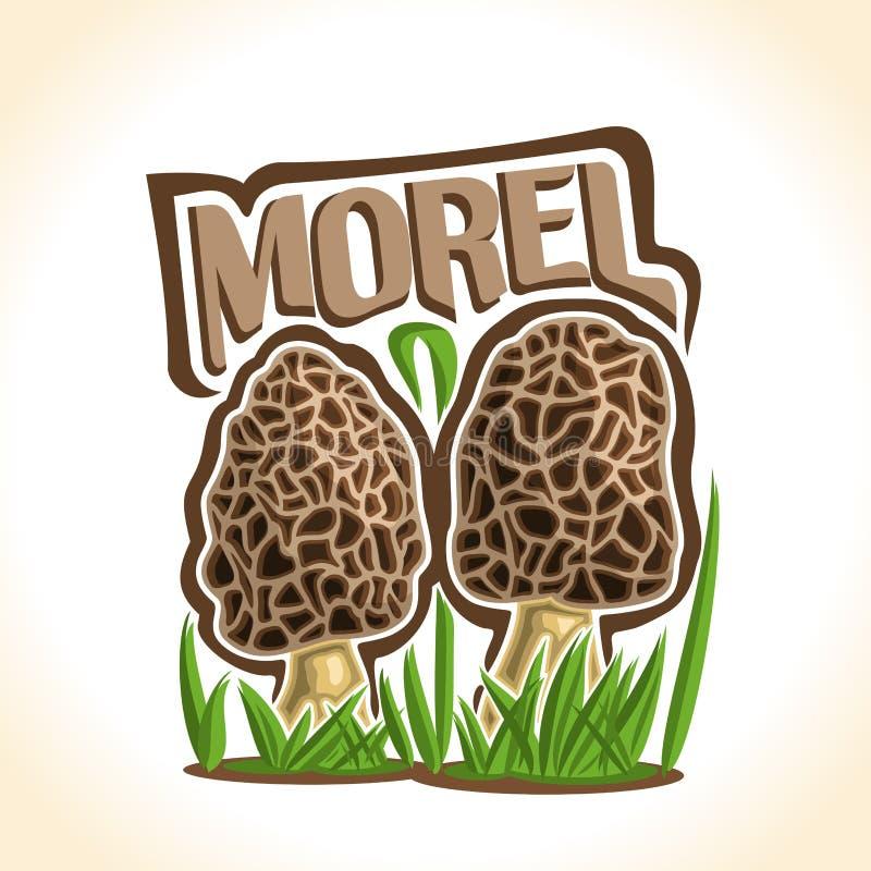 Free Vector Logo Morel Mushrooms Stock Image - 85044391