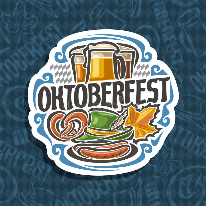 Vector logo for Oktoberfest stock illustration
