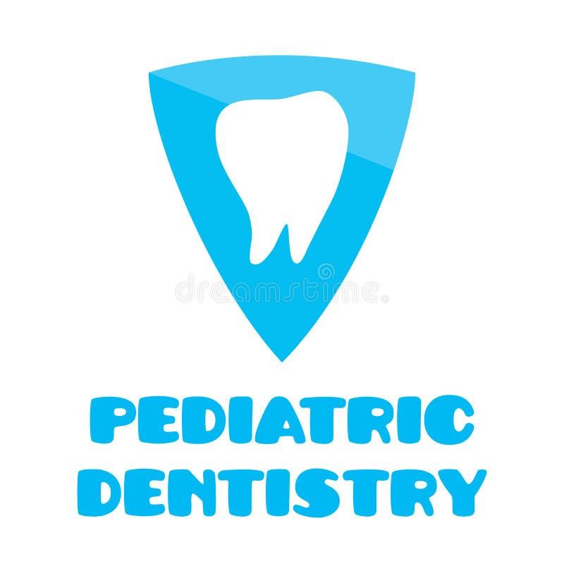 Vector logo for pediatric dentistry, dentistry for children royalty free illustration