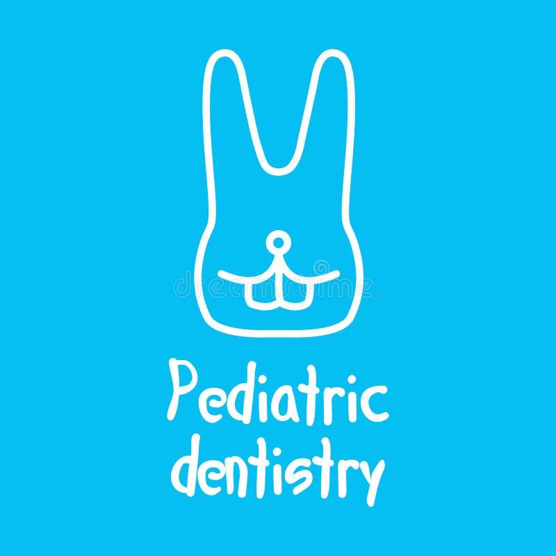 Vector logo for pediatric dentistry, dentistry for children stock illustration