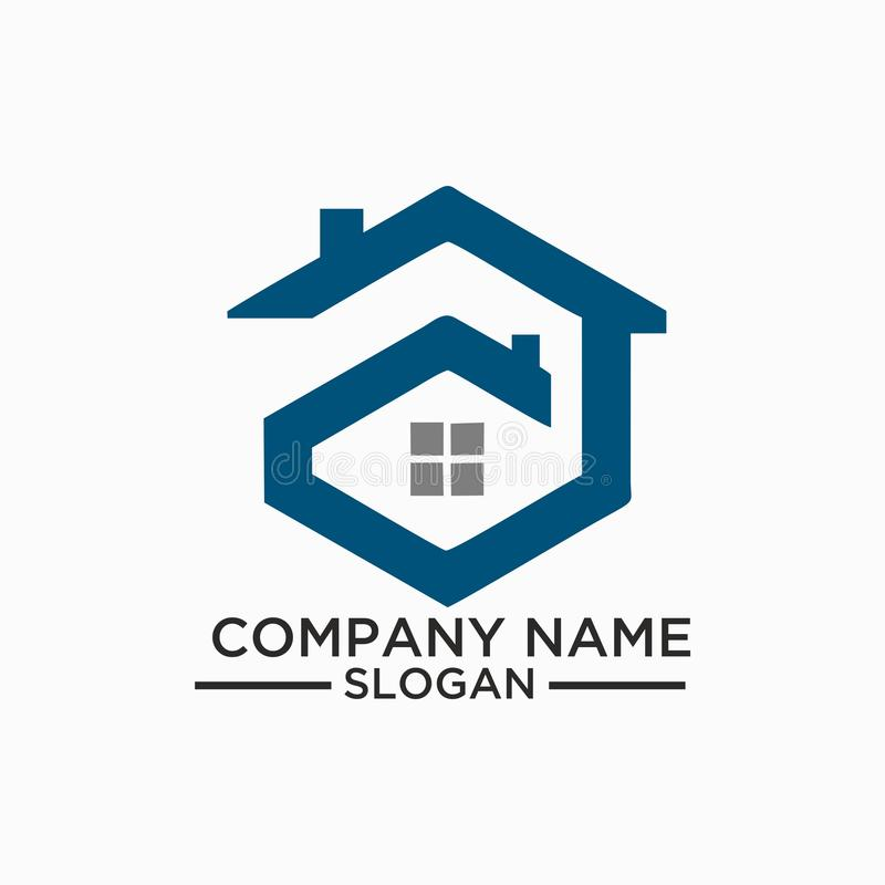 Download Building And Construction Logo Vector Design Real Estate Template For Business Stock