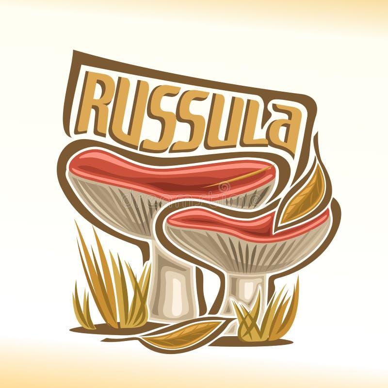Free Vector Logo Russula Mushrooms Stock Photo - 85174840