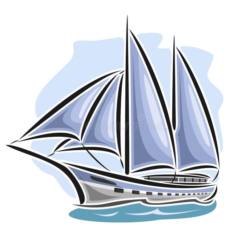 Free Vector Logo Sailing Yacht Stock Photography - 71076072