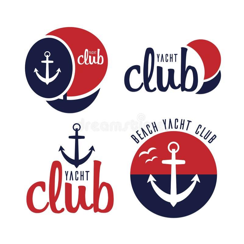 Vector logo sailing yacht stock images
