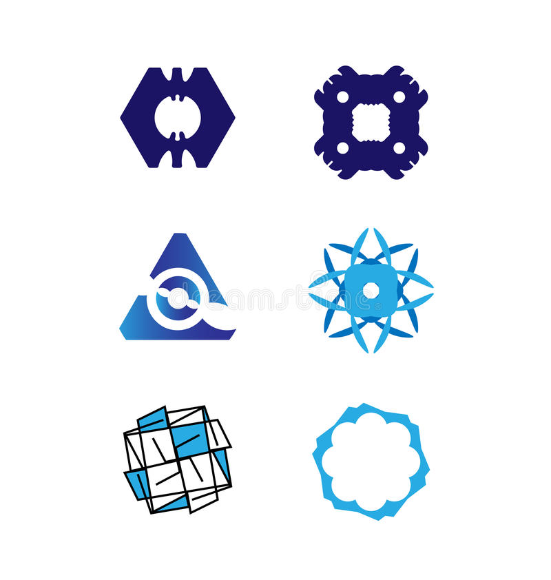 Vector logo set stock illustration