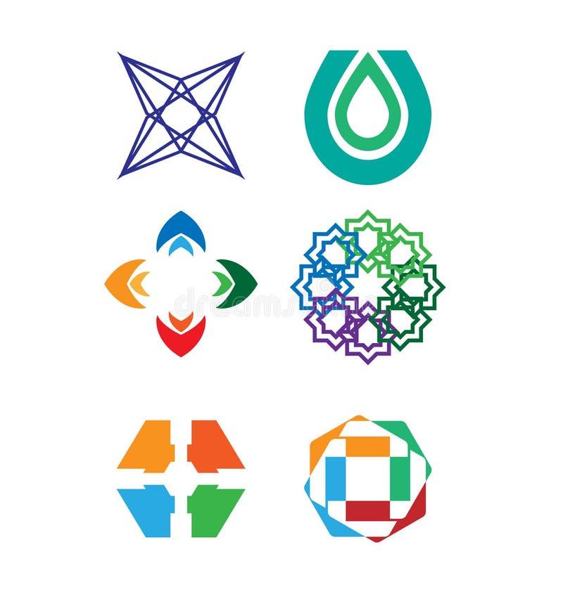 Vector logo set stock illustration