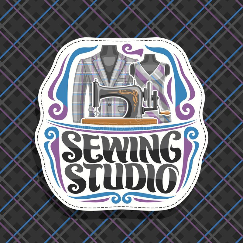 Vector logo for Sewing Studio stock illustration