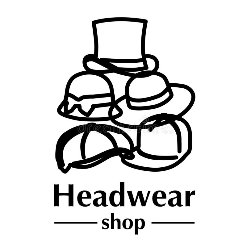 Vector logo for store hats and caps vector illustration