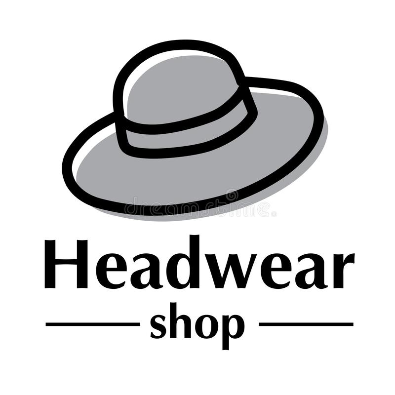Vector logo for store hats and caps stock illustration