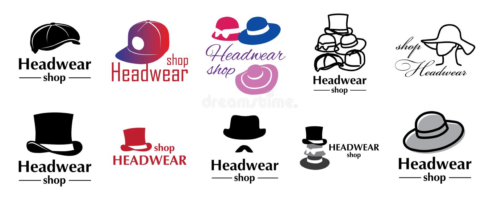 Vector logo for store hats and caps royalty free illustration