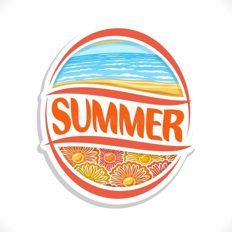 Vector logo for Summer season royalty free illustration