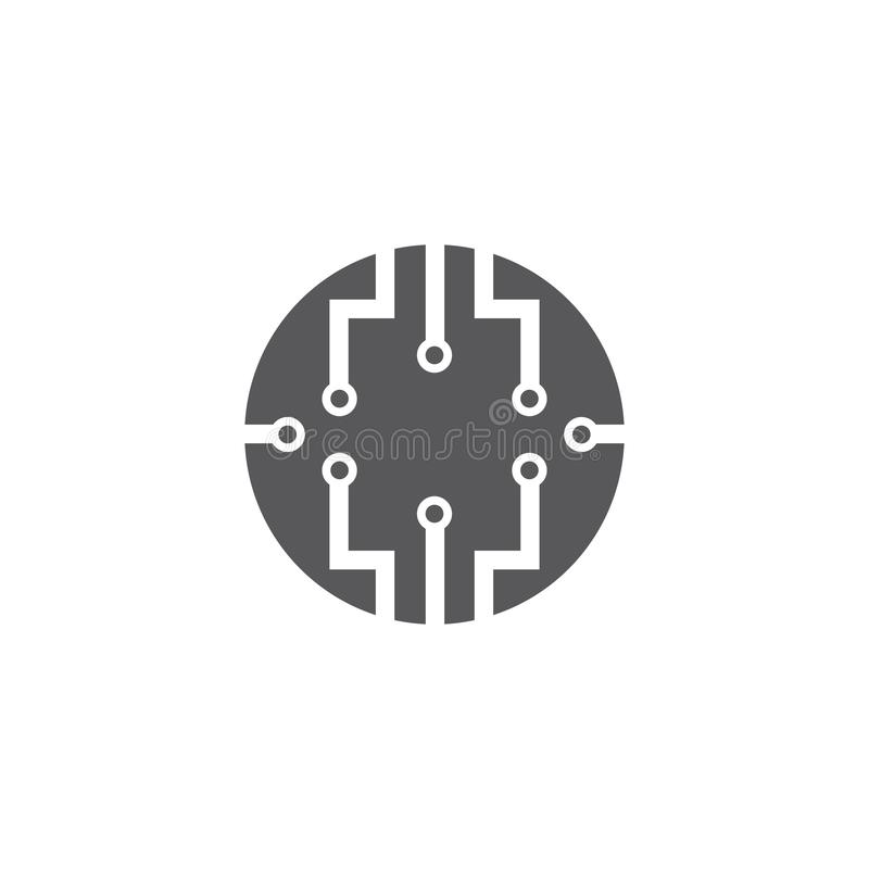Vector Logo Technology concept illustration. Design, icon, computer, element, network, abstract, template, internet, data, software, symbol, company stock illustration