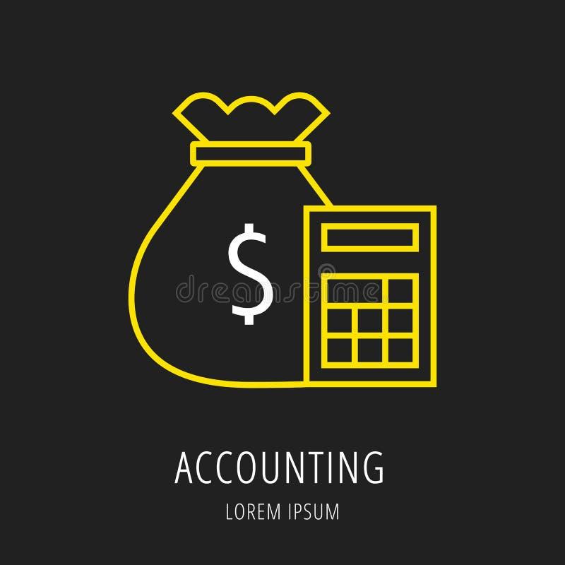 Vector Logo Template Accounting simple ilustración del vector