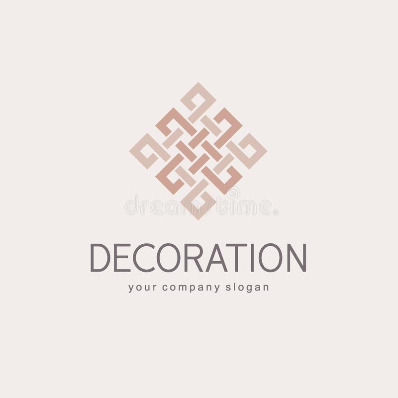 Vector logo template for boutique hotel, restaurant, jewelry. Luxury monogram. Abstract icon royalty free illustration