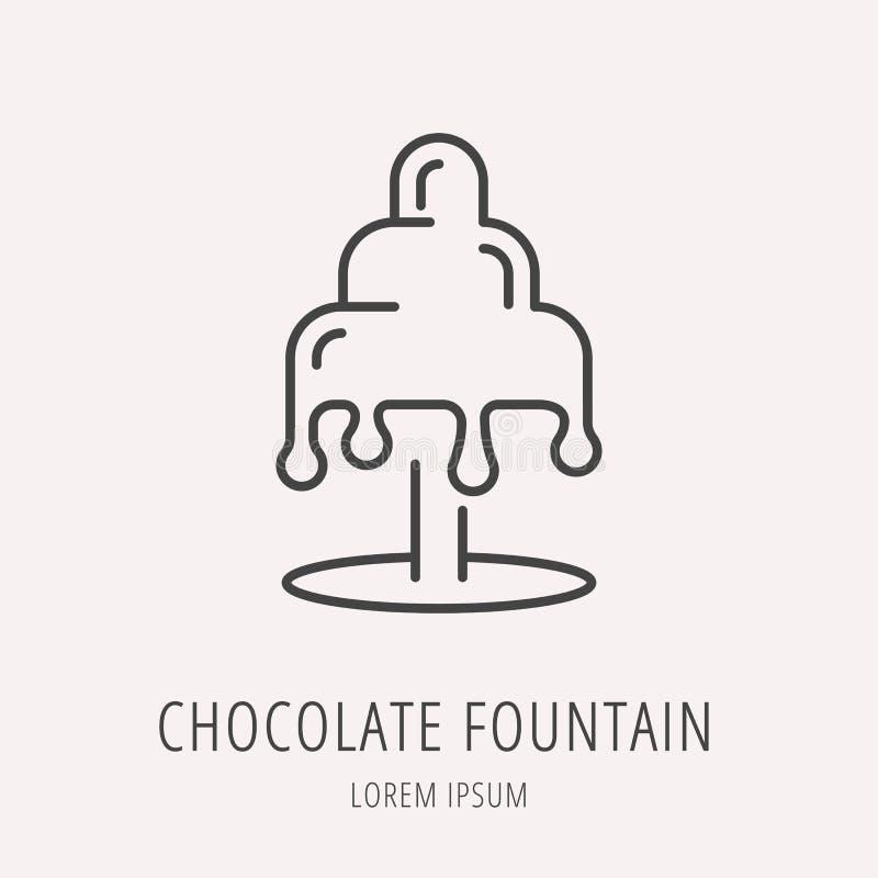Vector Logo Template Chocolate Fountain simple stock de ilustración