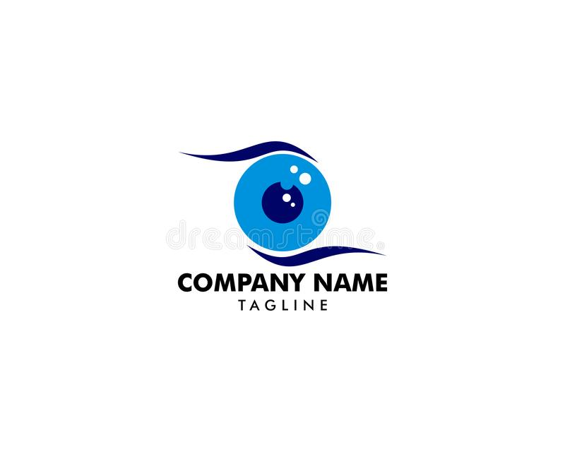 Vector Logo Template del icono de la bola del ojo libre illustration