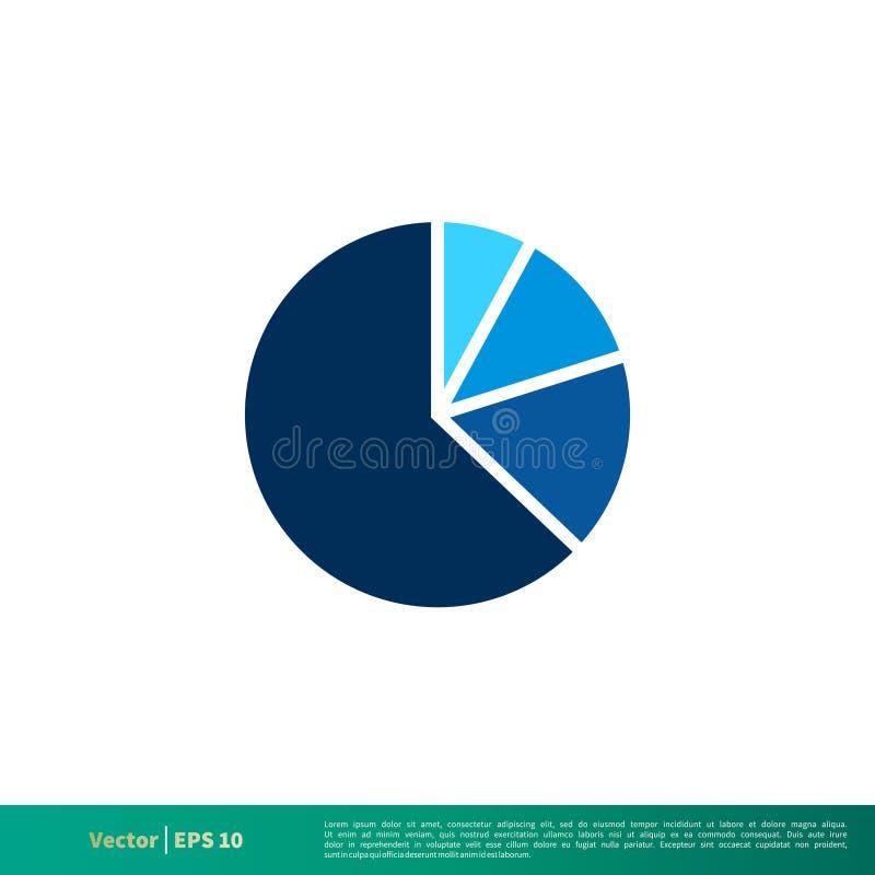 Vector Logo Template Illustration Design del icono de las finanzas del gráfico de sectores Vector EPS 10 stock de ilustración