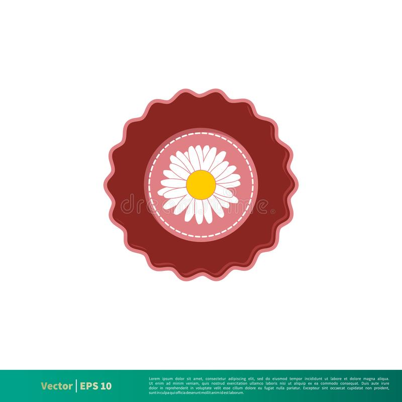Vector Logo Template Illustration Design del icono del emblema de la flor Vector EPS 10 libre illustration