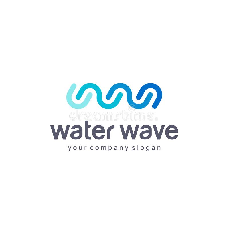 Vector logo template. Water Wave. Clean water. stock illustration