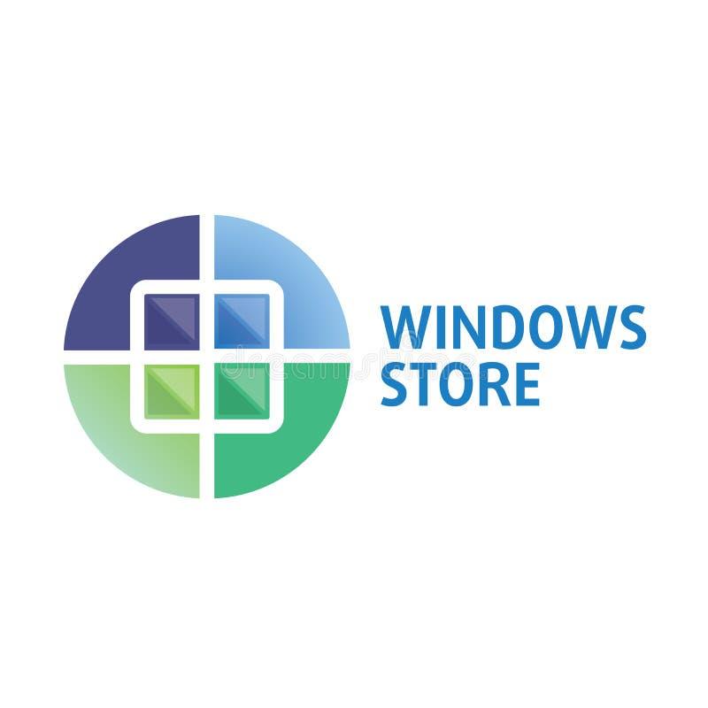 Vector logo on the theme of Windows, doors vector illustration