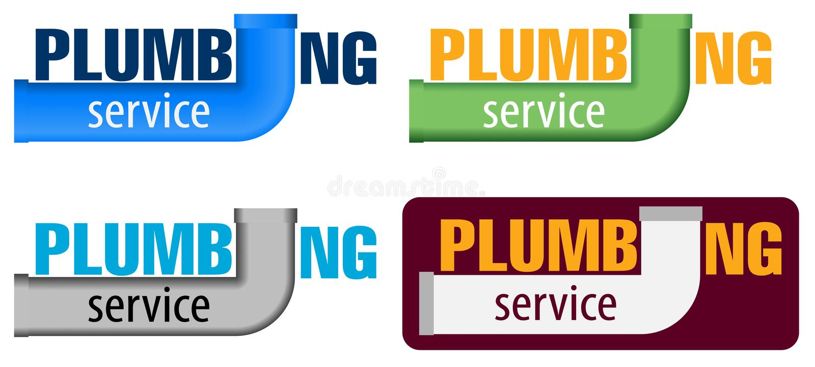 Vector logo water, gas engineering, plumbing service or company. Web graphics, banners, advertisements, brochures. royalty free illustration