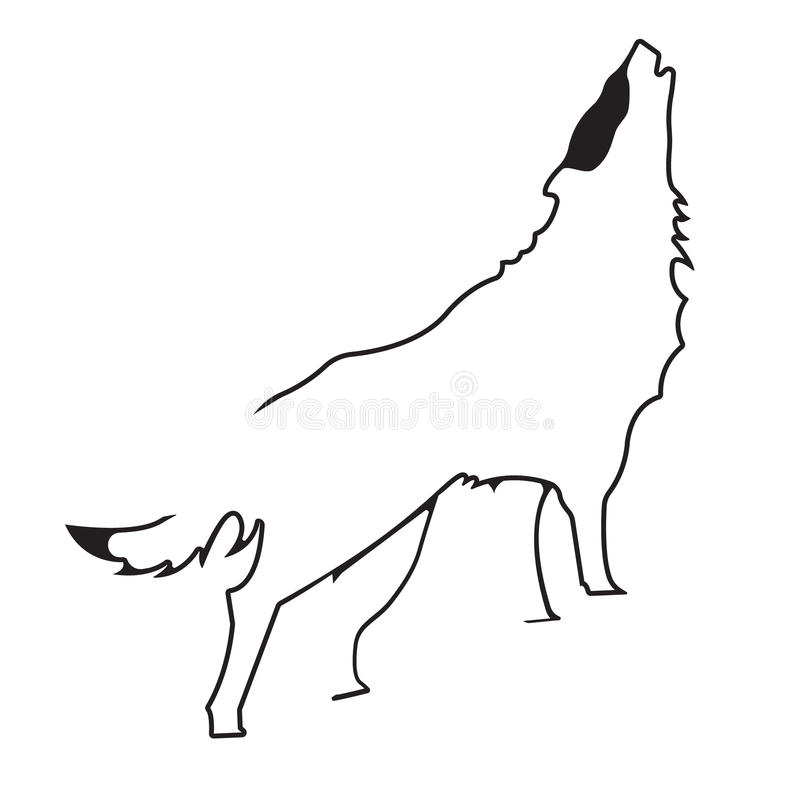 Vector logo wolf. Brand color silhouette icon. royalty free illustration