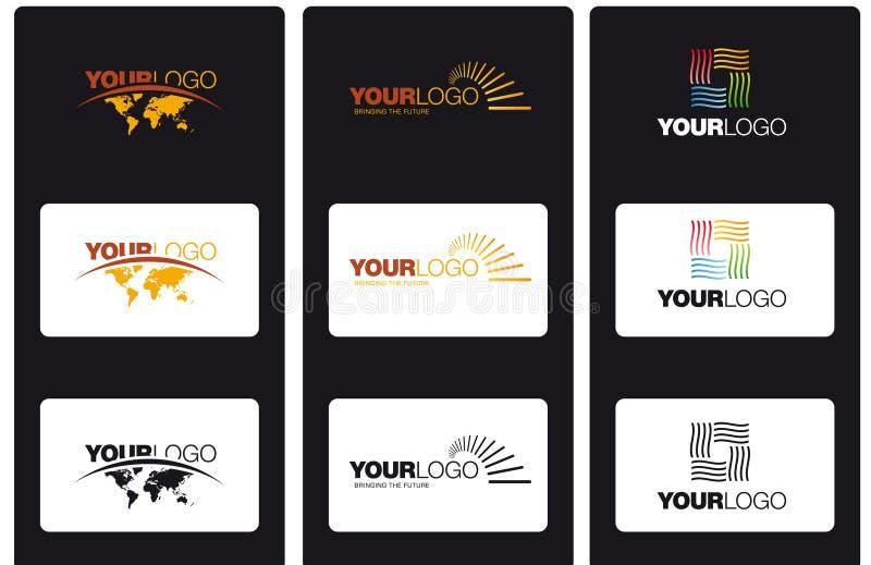 Vector logos royalty free illustration