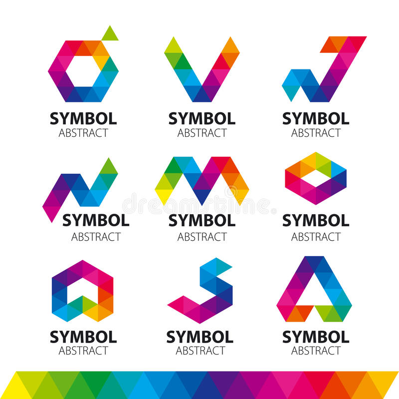 Vector logos from abstract modules royalty free illustration
