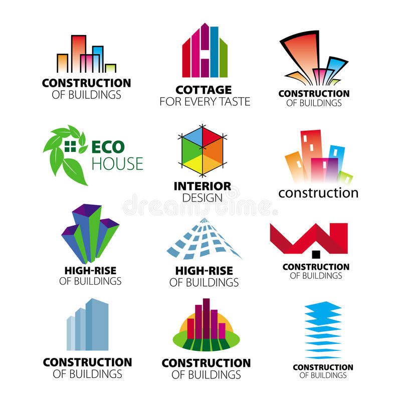 Download Vector Logos Construction And Home Improvement Stock Vector    Illustration Of Future, Estate: