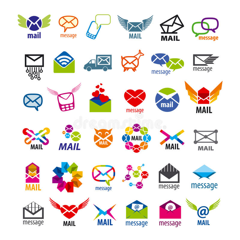 Vector logos mail messages