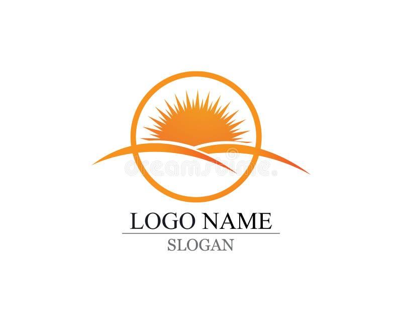 Vector - logotipo y símbolos del icono de la estrella de la explosión de Sun stock de ilustración