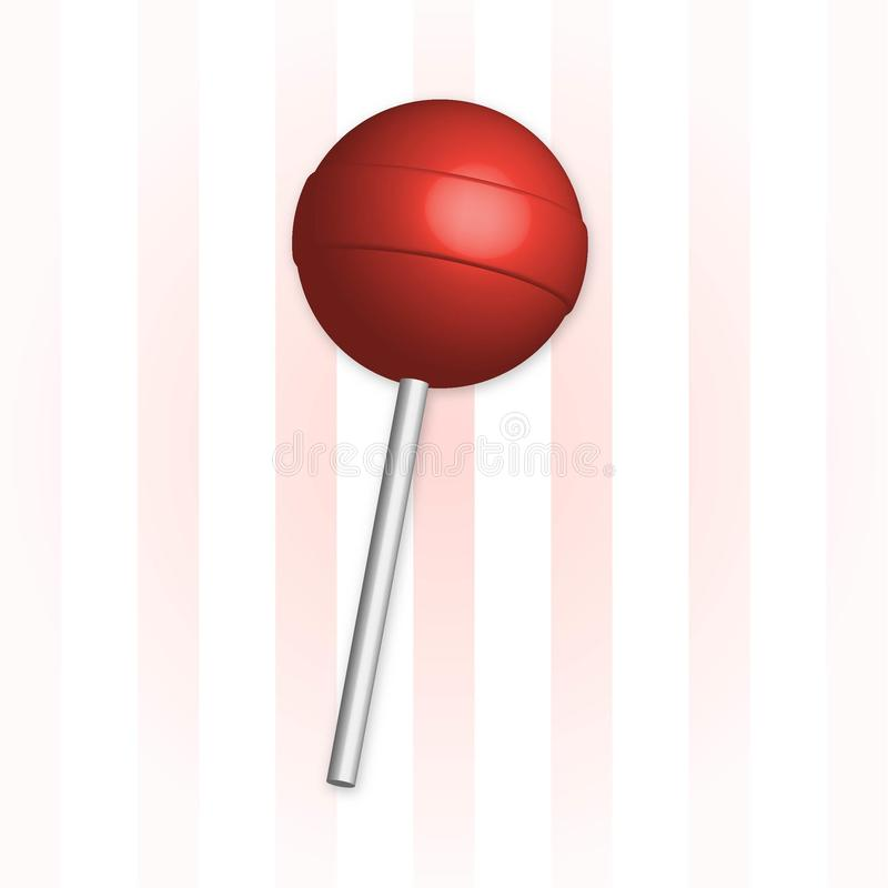 Vector lollipop royalty free stock image